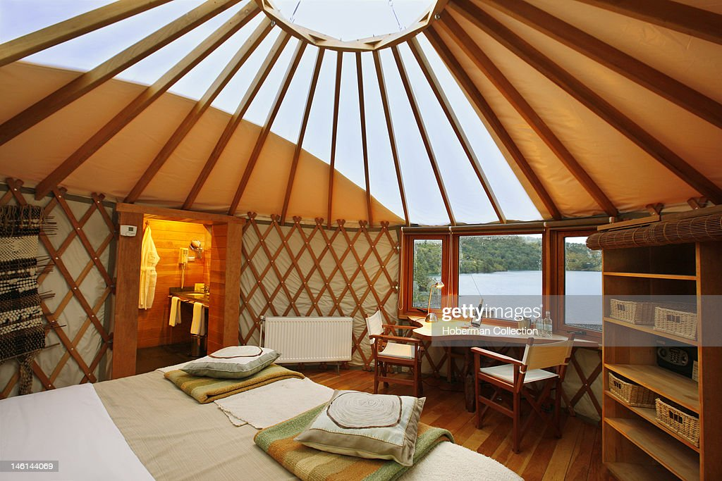 Yurt interior patagonia camp chile pictures getty images for Yurt interior designs