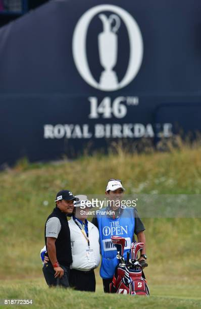 Yusaku Miyazato of Japan during a practice round prior to the 146th Open Championship at Royal Birkdale on July 19 2017 in Southport England