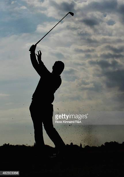 Yusaku Miyazato of Japan hits his tee shot on the fourth hole during the second round of The 143rd Open Championship at Royal Liverpool on July 18...