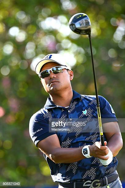 Yusaku Miyazato of Japan looks on during the third round of the Sony Open In Hawaii at Waialae Country Club on January 16 2016 in Honolulu Hawaii