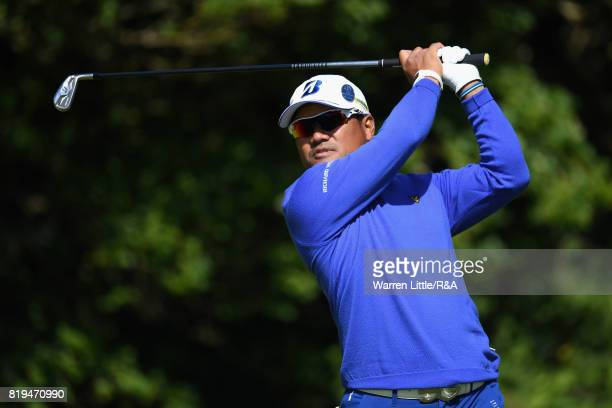Yusaku Miyazato of Japan on the fifth tee during the first round of the 146th Open Championship at Royal Birkdale on July 20 2017 in Southport England