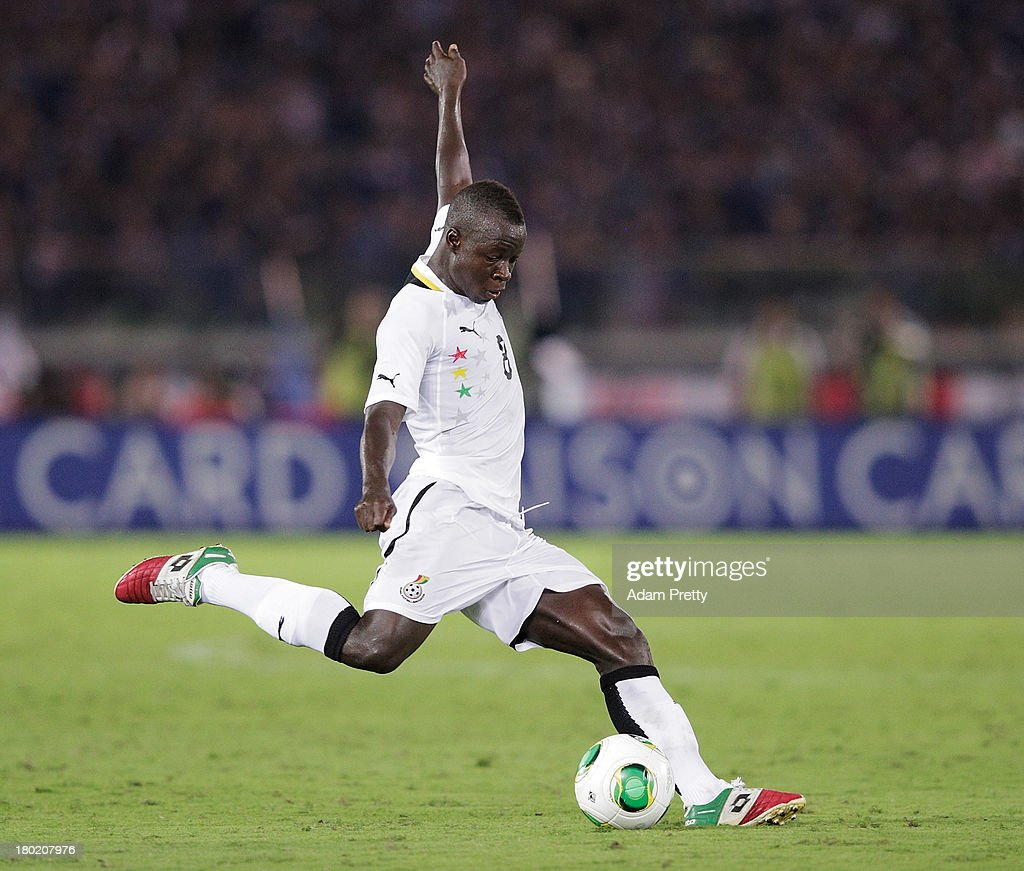 Yusif Raman Chibsah of Ghana in action during the international friendly match between Japan and Ghana at International Stadium Yokohama on September 10, 2013 in Yokohama, Japan.