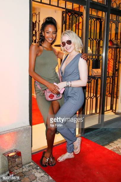 Yusra BabekrAli and Sarah Jolina Schuette during the Christian Louboutin Store Opening on June 23 2017 in Munich Germany