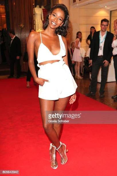 Yusra BabekrAli gntm Germany's next topmodel during the opening night party of the Munich Film Festival 2017 at Hotel Bayerischer Hof on June 22 2017...