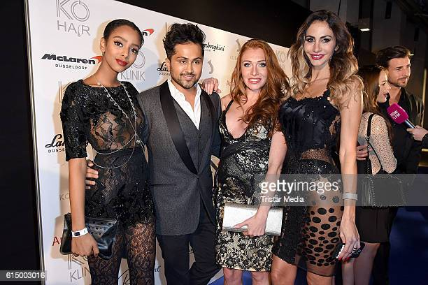 Yusra BabekrAli Samuel Sohebi Georgina Fleur Buelowius and Janina Youssefian attend the Opening Party of the Men's Beauty Clinic on October 15 2016...