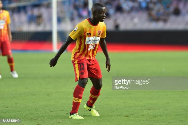 Yussif Raman Chibsah of Benevento Calcio during the Serie A TIM match between SSC Napoli and Benevento Calcio at Stadio San Paolo Naples Italy on 17...