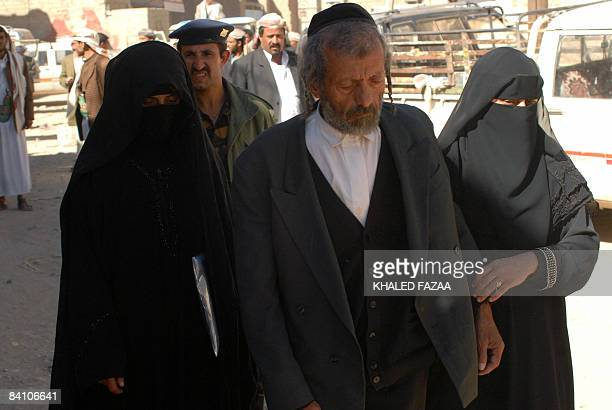Yussuf the father of a Yemeni Jew killed earlier this month in Raydah 70 kms north of the capital Sanaa leaves on December 22 2008 the court in the...