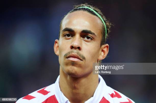 Yussuf Yurary Poulsen of Denmark looks on during the international friendly match between Denmark and Germany at Brondby Stadion on June 6 2017 in...