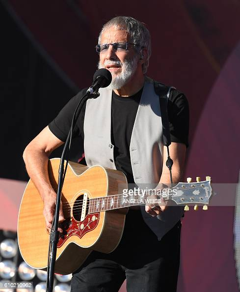 Yusuf Islam/ Cat Stevens performs at the 2016 Global Citizen Festival in Central Park to end extreme poverty by 2030 at Central Park on September 24...