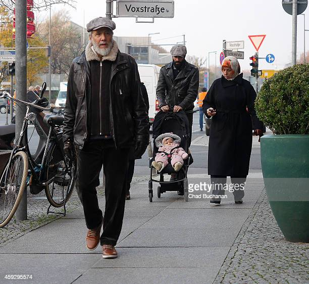 Yusuf Islam formerly know as Cat Stevens sighted walking with his family on November 20 2014 in Berlin Germany