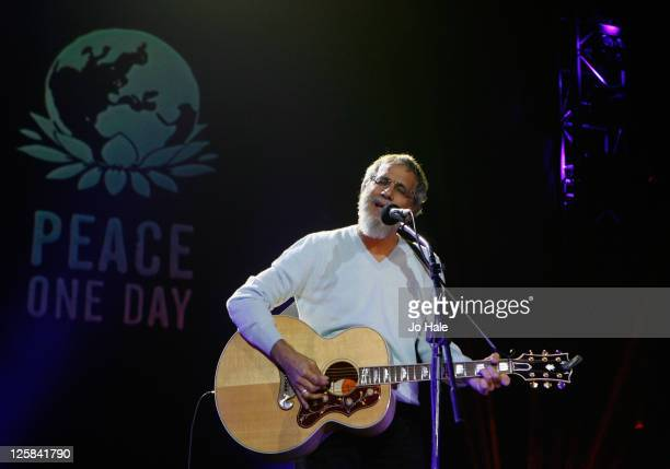 Yusuf Islam performing at The Peace One Day Celebration 2011 on September 21 2011 in London United Kingdom
