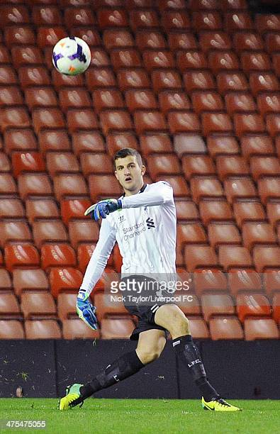Yusuf Mersin of Liverpool during the Barclays Premier League Under 21 fixture between Liverpool and Wolverhampton Wanderers at Anfield on February 27...