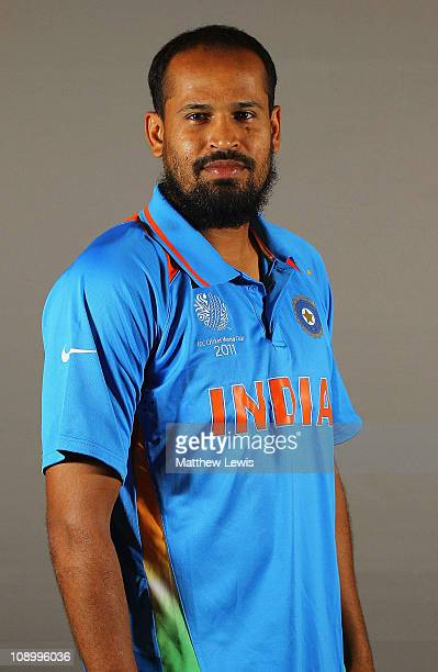 Yusuf Pathan of India poses during a portrait session ahead of the 2011 ICC World Cup at the ITC Gardenia on February 11 2011 in Bangalore India