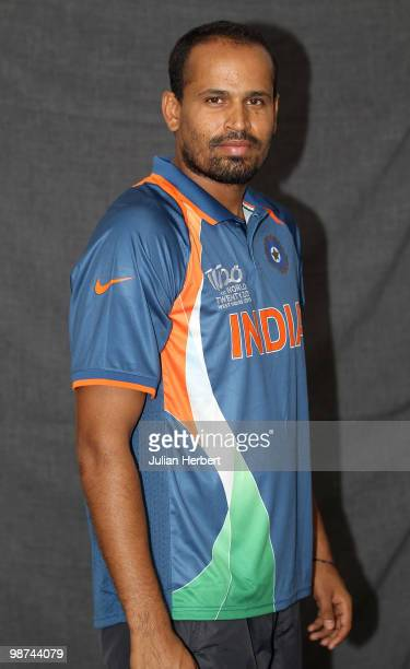 Yusuf Pathan of The Indian T20 squad poses for a portrait on April 29 2010 in Gros Islet Saint Lucia