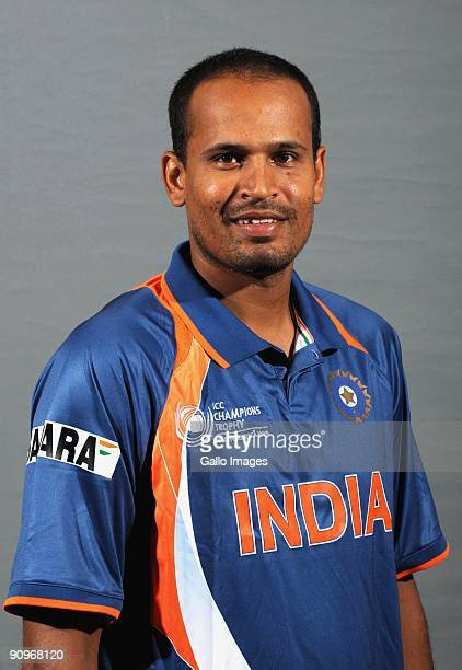 Yusuf Pathan poses during the ICC Champions photocall session of the Indian cricket team at Sandton Sun on September 19 2009 in Sandton South Africa