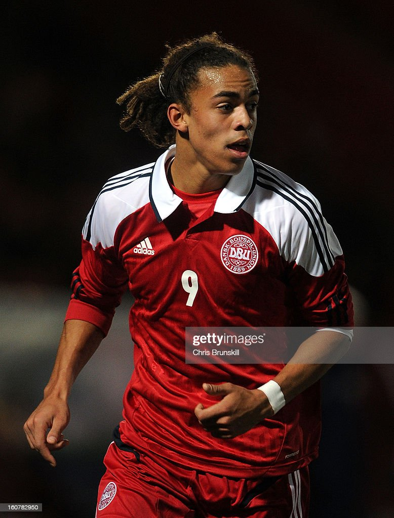 Yusuf Yurary of Denmark U19 in action during the International Match between England U19 and Denmark U19 at Keepmoat Stadium on February 5, 2013 in Doncaster, England.