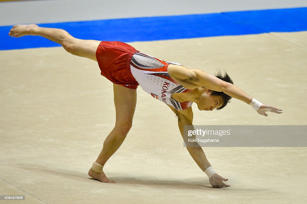 Yusuke Tanaka competes in the Floor Exercise during the Artistic Gymnastics NHK Trophy at Yoyogi National Gymnasium on May 5, 2016 in Tokyo, Japan.