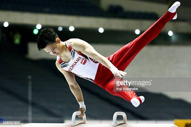 Yusuke Tanaka@ competes on the pommel horse during the AllJapan Gymnastic Appratus Championshipsat Yoyogi National Gymnasium on June 5 2016 in Tokyo...