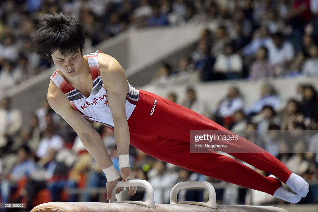 Yusuke Tanaka competes Pommel Horse during the Artistic Gymnastics NHK Trophy at Yoyogi National Gymnasium on May 5, 2016 in Tokyo, Japan.