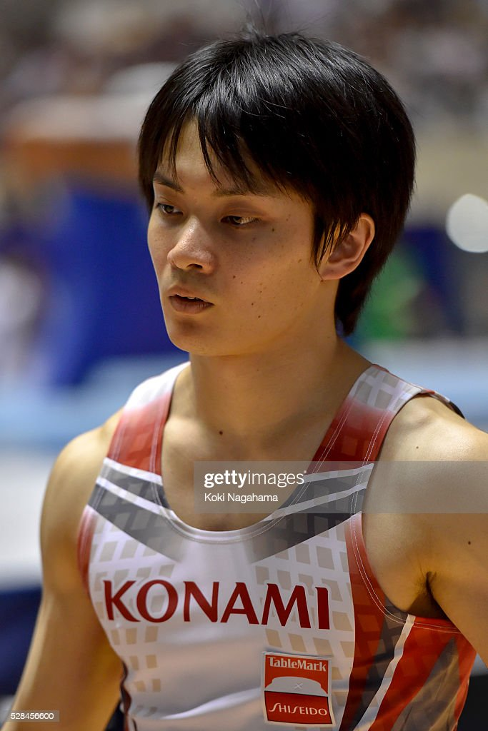 Yusuke Tanaka looks on in the Rings during the Artistic Gymnastics NHK Trophy at Yoyogi National Gymnasium on May 5, 2016 in Tokyo, Japan.