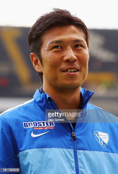 Yusuke Tasaka of Bochum looks on prior to the DFB Cup second round match between Eintracht Frankfurt and VfL Bochum at CommerzbankArena on September...