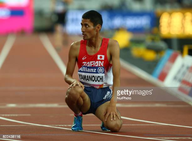 Yusuke Yamanouchi of Japen compete of Men's 1500m T20 Final during World Para Athletics Championships Day Three at London Stadium in London on July...