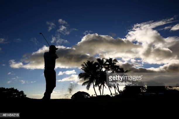 Yuta Ikeda of Japan hits a shot during the ProAm round prior to the Sony Open in Hawaii at Waialae Country Club on January 8 2014 in Honolulu Hawaii