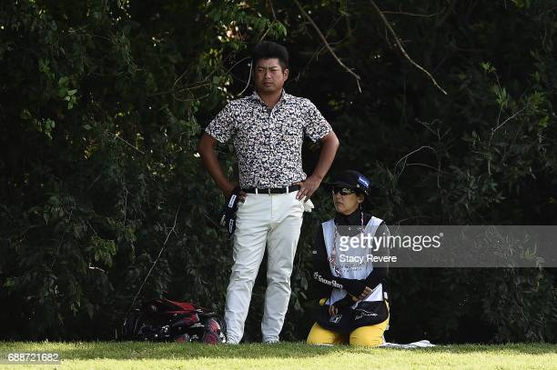 Yuta Ikeda of Japan plays his second shot on the 15th hole during Round Two of the DEAN DELUCA Invitational at Colonial Country Club on May 26 2017...