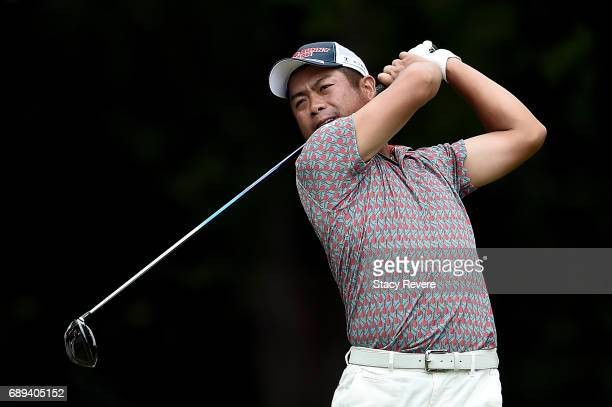 Yuta Ikeda of Japan plays his shot from the 12th tee during the Final Round of the DEAN DELUCA Invitational on May 28 2017 in Fort Worth Texas