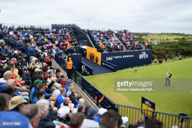 Yuta Ikeda of Japan tees off on the 1st hole during the second round of the 146th Open Championship at Royal Birkdale on July 21 2017 in Southport...