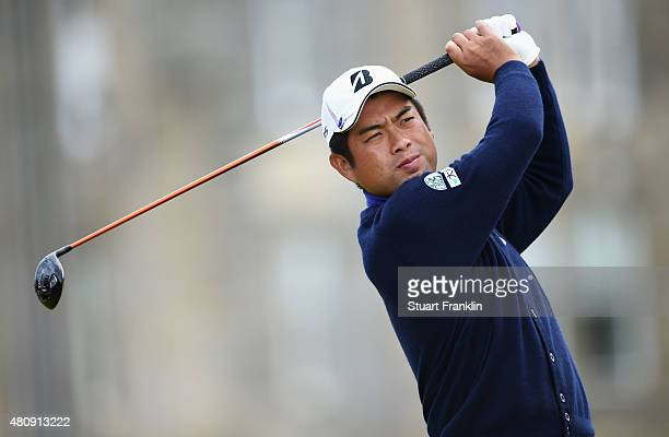Yuta Ikeda of Japan tees off on the 2nd hole during the first round of the 144th Open Championship at The Old Course on July 16 2015 in St Andrews...