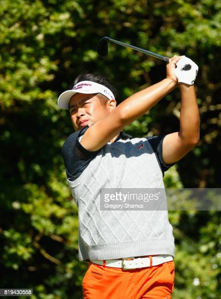 Yuta Ikeda of Japan tees off on the 5th hole during the first round of the 146th Open Championship at Royal Birkdale on July 20 2017 in Southport...