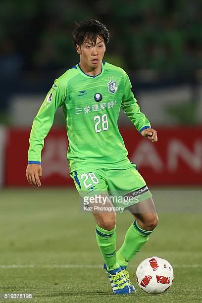 Yuta Kamiya of Shonan Bellmare in action during the JLeague Yamazaki Nabisco Cup match between Shonan Bellmare and Omiya Ardija at the Shonan BMW...