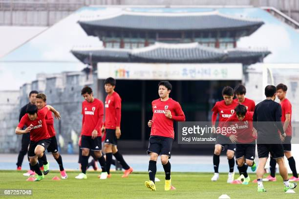 Yuta Nakayama of Japan in action during a training session ahead of the FIFA U20 World Cup Korea Republic 2017 group D match against Uruguay on May...