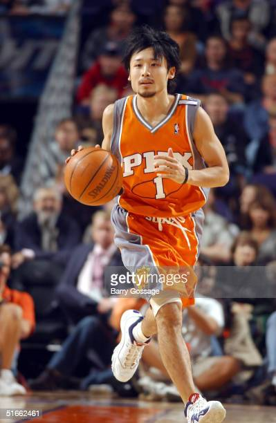 Yuta Tabuse of the Phoenix Suns becomes the first player from Japan to play in the NBA against the Atlanta Hawks on November 3 2004 at America West...