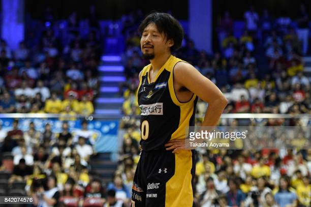 Yuta Tabuse of the Tochigi Brex reacts during the BLeague Kanto Early Cup 3rd place match between Kawasaki Brave Thunders and Tochigi Brex at...