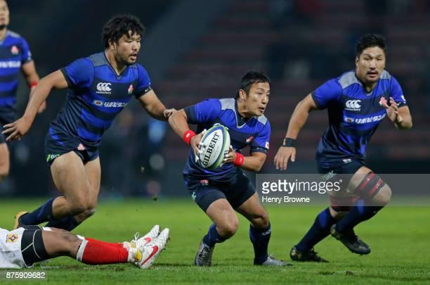 Yutaka Nagare of Japan during the international match between Japan and Tonga at Stade Ernest Wallon on November 18 2017 in Toulouse Kanagawa France