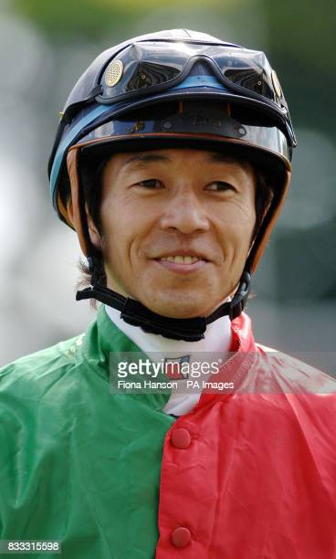 Yutaka Take smiles after winning the Carvill Shergar Cup Stayers Handicap on Leg Spinner at Ascot Racecourse