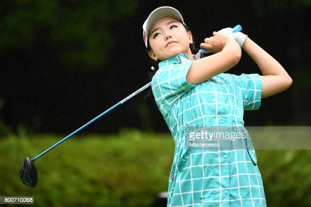 Yuting Seki of China hits her tee shot on the 2nd hole during the final round of the Earth Mondamin Cup at the Camellia Hills Country Club on June 25...