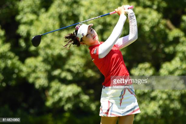 Yuting Seki of China hits her tee shot on the 2nd hole during the second round of the Samantha Thavasa Girls Collection Ladies Tournament at the...