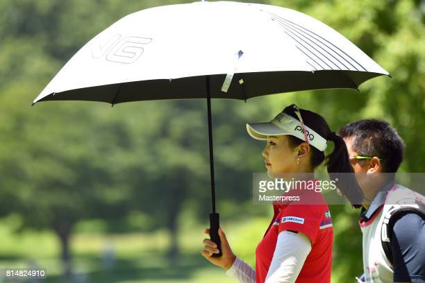 Yuting Seki of China looks on during the second round of the Samantha Thavasa Girls Collection Ladies Tournament at the Eagle Point Golf Club on July...
