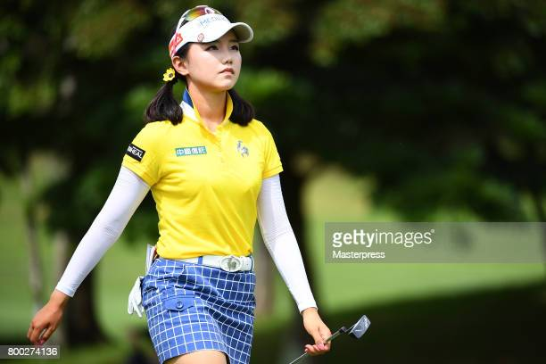 Yuting Seki of China looks on during the third round of the Earth Mondamin Cup at the Camellia Hills Country Club on June 24 2017 in Sodegaura Japan