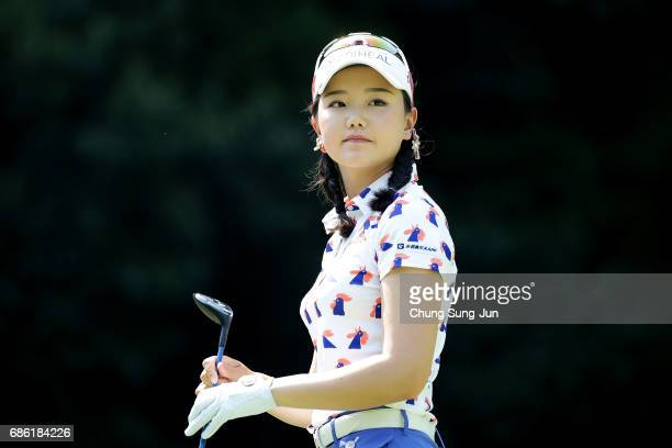 Yuting Seki of China on the 5th hole during the final round of the Chukyo Television Bridgestone Ladies Open at the Chukyo Golf Club Ishino Course on...