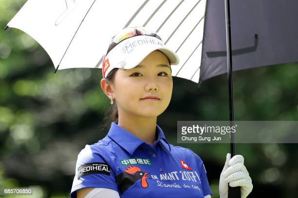Yuting Seki of China on the 5th hole of second round during the Chukyo Television Bridgestone Ladies Open at the Chukyo Golf Club Ishino Course on...