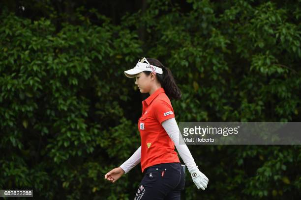 Yuting Seki of China walks on the 10th fairway during the final round of the HokennoMadoguchi Ladies at the Fukuoka Country Club Wajiro Course on May...