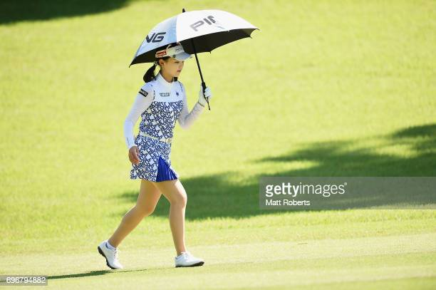 Yuting Seki of China walks the first fairway during the second round of the Nichirei Ladies at the on June 17 2017 in Chiba Japan