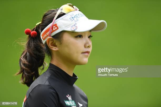 Yuting Seki of Japan looks on during the final round of the meiji Cup 2017 at the Sapporo Kokusai Country Club Shimamatsu Course on August 6 2017 in...