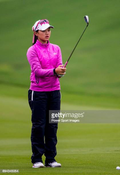 Yuting Shi of China in action during the Hyundai China Ladies Open 2014 on December 12 2014 at Mission Hills Shenzhen in Shenzhen China