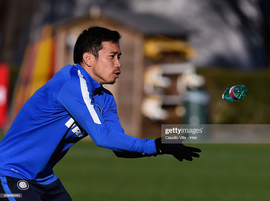 <a gi-track='captionPersonalityLinkClicked' href=/galleries/search?phrase=Yuto+Nagatomo&family=editorial&specificpeople=4320811 ng-click='$event.stopPropagation()'>Yuto Nagatomo</a> during the FC Internazionale training session at the club's training ground at Appiano Gentile on February 11, 2016 in Como, Italy.