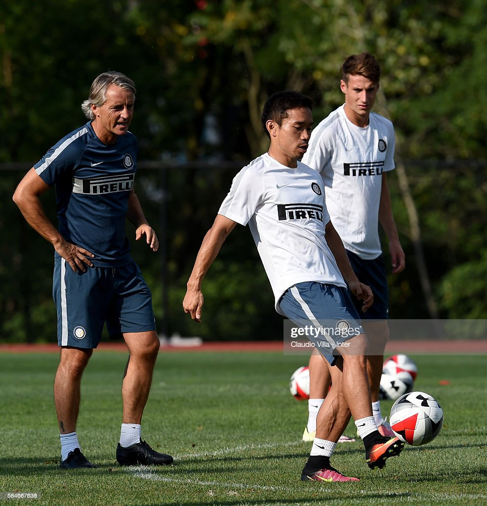 Yuto Nagatomo in action during the FC Internazionale training session at Montclair State University on July 29 2016 in Montclair United States
